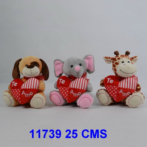 ANIMALITOS CON CORAZON 25 CMS