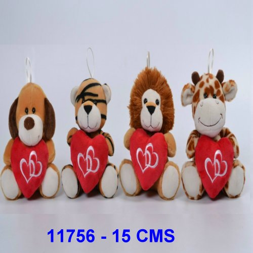 ANIMALITOS CON CORAZON 15 CMS