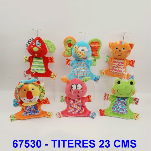 TITERES ANIMALITOS MULTICOLORES 23 CMS