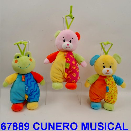 CUNERO MUSICAL ANIMALITOS CON PIJAMA 2 COLORES